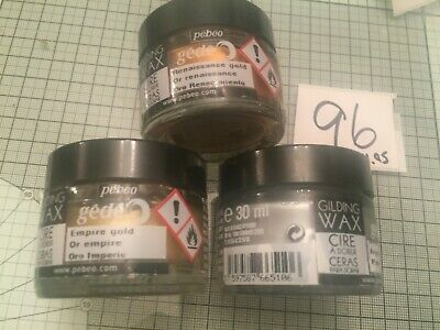 Pebeo 30ml gilding wax pk of 3 ref96