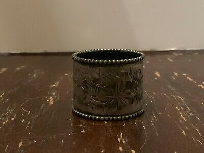 Antique Victorian Silverplate Napkin Ring