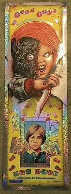 Child's Play Chucky Doll Steven Holliday Movie Foil Print Poster Mondo Horror