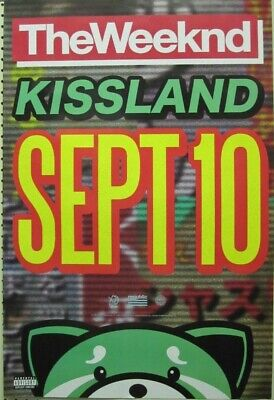 The Weeknd 2013 Kissland Huge 2 Sided Promotional Poster Flawless New Old Stock
