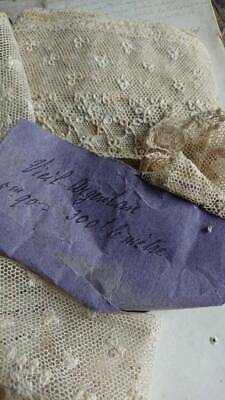 BEAUTIFUL ANTIQUE FRENCH ARGENTAN LACE - ATTIC FIND MID 1800s
