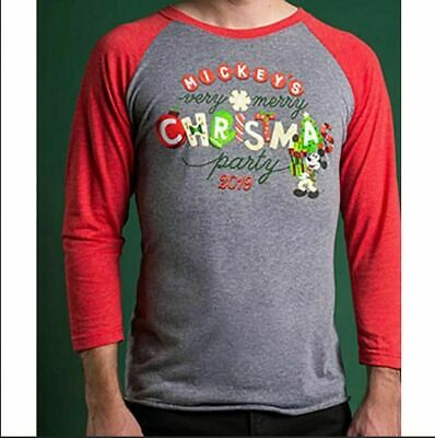 Disney Parks 2019 Mickey's Very Merry Christmas Party Shirt Adult Size med NWT