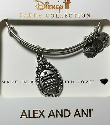 Disney Parks Alex And Ani Haunted Mansion Silver Bracelet