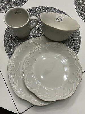 Lenox French Perle White Set Of Two Dinner Sets New