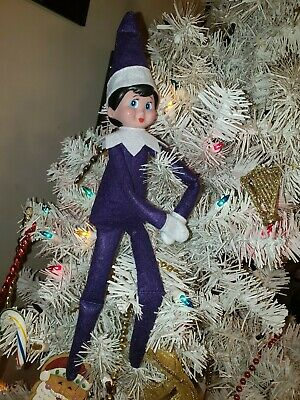 *RARE* Purple Girl Elf w Blue Eyes Christmas Tradition Doll only Plush toy NEW