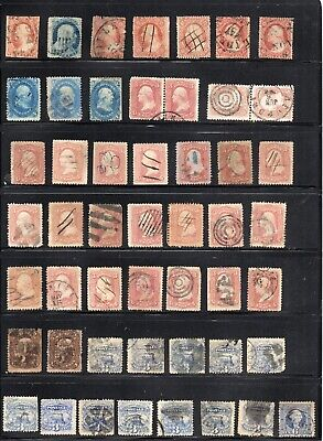 Old Classic Stockpage Full of Stamps  19th Century Collection