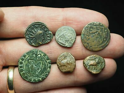 Lot of 6 Ancient coins, Roman, Celtic, India