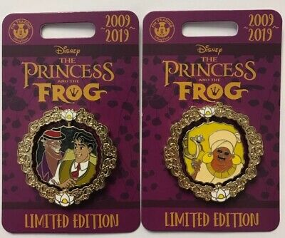 Disney Parks 2019 Princess and the Frog 10th Dr. Facilier & Odie LE spinner Pin