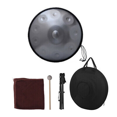 10 Notes Hand Pan Handpan Hand Drum Professional with Stand + Bag + Hammer Q1G0