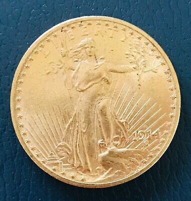 US $20.St. Gaudens  Gold coin 1914 S