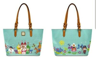 New Disney Parks Dooney & Bourke It's A Small World 2019 Blue Tote Bag  NWT