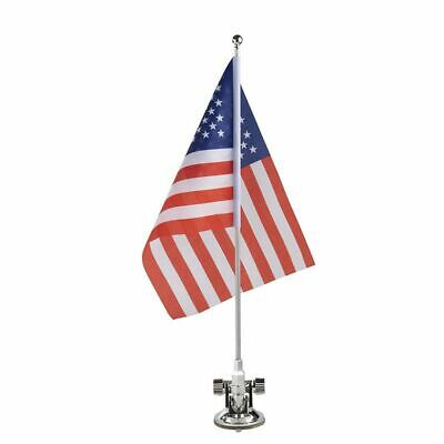 American US Flag with Metal Stand and Suction Cup for Patriotic Vehicles, 8x11""