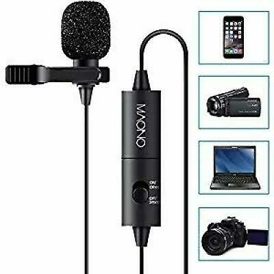 MAONO Lavalier Microphone, Hands Free Clip-on Lapel Mic with Omnidirectional
