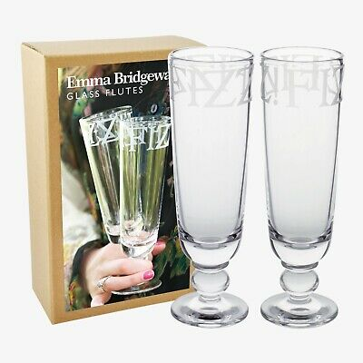 Emma Bridgewater Black Toast Boxed Champagne Glasses / Flutes - Fizz - New