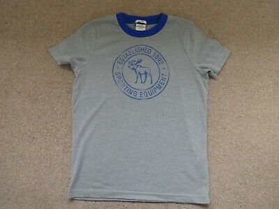 Boys/Girls Grey Abercrombie & Fitch Muscle Fit T-Shirt Kids Large