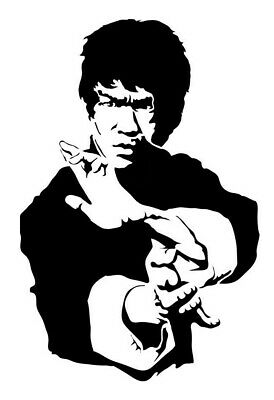 high detail airbrush stencil bruce lee nine FREE POSTAGE