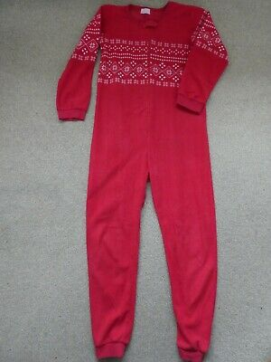 Girls Fleece One Piece Pyjama Age 13 Years From Primark