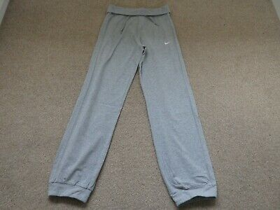 Girls Grey Nike Cuffed Lightweight Joggers Age 10-12 Years With Drawstring Waist