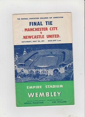 1955 F.A.Cup Final.Manchester City v Newcastle United.