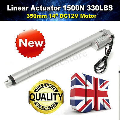 """1500N 350mm/14"""" Linear Actuator Electric Motor 330LBS for Electric Lifting"""
