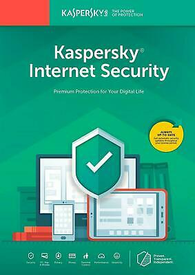 Kaspersky Internet Security 2019 2020 3 Device PC / 1 years US Version Download