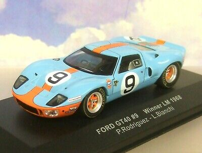 Spark 1:43 Ford GT 40 Gulf John Wyer vencedores le mans 1968 Rodriguez//bianchi
