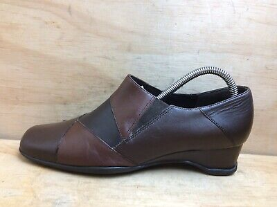 K by Clarks Ladies Brown Leather Slip on Shoes size UK 6.5 EU 40