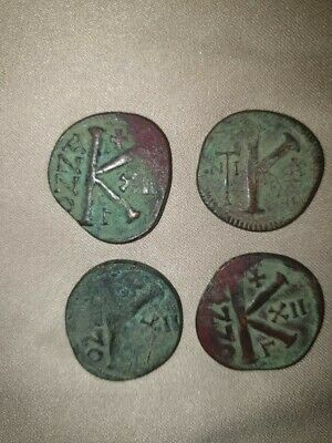 Lot Of 4 Byzantine Coins, Justin  Ii & Sophia (Ad 565/578