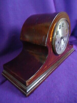 Antique Art Nouveau Inlaid Chiming Mantle Clock. Spares Or Repair