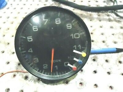 Nascar Spek Tach 0-11K With Mount Ring 10 Pin Race Used Race Ready