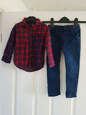 Next Boys Outfit Jeans And Shirt Age 2-3 Years