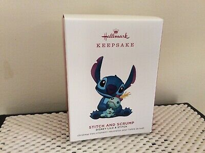 SOLD OUT!-Hallmark 2019 Keepsake Ornament Disney's STITCH & SCRUMP~NIB