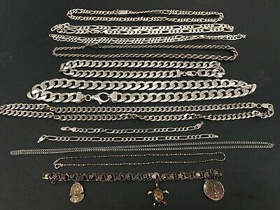 630.5 Grams 🔥 Estate Silver Sterling Jewelry Chains & Bracelets 🔥