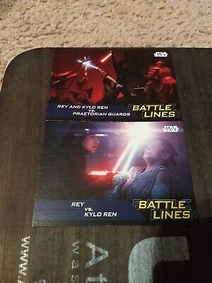 Journey to Star Wars:The Rise of Skywalker BATTLE LINES BL-10 and 9 - Topps 2019