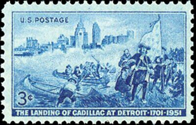 USA 1951 (2 for $1 Auction) - Landing of Cadillac Issue - MNH Stamp -- #1000