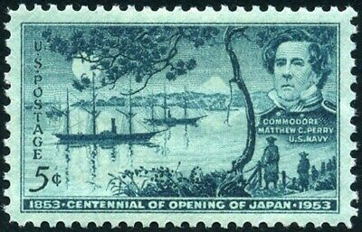 USA 1953 (2 for $1 Auction) - Opening of Japan Centennial Issue 1853-1953  #1021