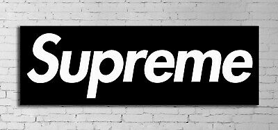 #05 Hypebeast Logo Pop Art Culture 12x36 inch Poster Canvas Framed Ready to Hang