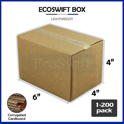 "1-200 6x4x4 ""EcoSwift"" Cardboard Packing Mailing Shipping Corrugated Box Cartons"