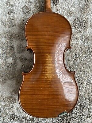 Luthier Special! French Violin Labeled/Branded F. Delprato c1923 Needs Repair NR