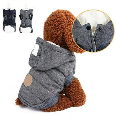 Winter Dog Coats Pet Cat Puppy Chihuahua Clothes Hoodie Warm Small Dog Outfit UK