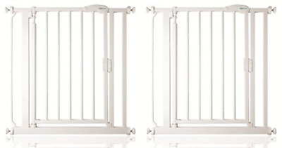 Safetots Self Closing Baby Stair Gate Pressure Fit Safety Gate White 75-161cm