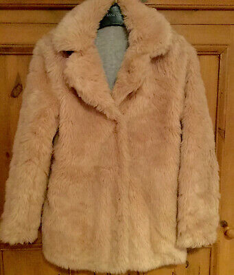 ❄️Girls George Dusky Pink Fluffy Faux Fur Winter Coat Age 10-11 Years❄️