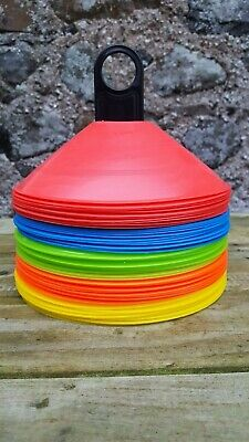 50 x Marker Cones Football, Rugby, All Sports Fitness. High Quality 30g