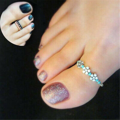 Finger Beach Barefoot Jewelry Celebrity Rhinestone Women Toe Ring Girl Foot