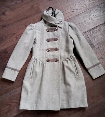 Girl's NEXT High Collared Lined Grey Winter Coat AGE 11-12