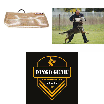 Dingo Gear Hard Jute Cover for Bite Protection Sleeves Handmade with a Handle fo