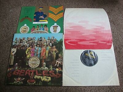 BEATLES SGT PEPPERS LONELY HEART CLUB BAND UK 1st Press 1967 WAVEY INNER VG+/EX