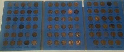 Lincoln Wheat Cent Set in Whitman Folder; 1909-1940; Almost Complete! Missing 8!