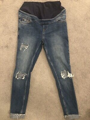 Womens New Look Jenna Over The Bump Maternity Jeans Size 8