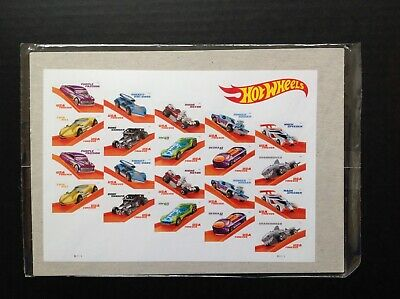 US #5321-30 Hot Wheels Stamps Full Pane (20) Stamps USPS Sealed (Free Shipping)